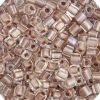 Miyuki square (Cube) 4mm Pale Rose Pearl Transparent Lined Luster